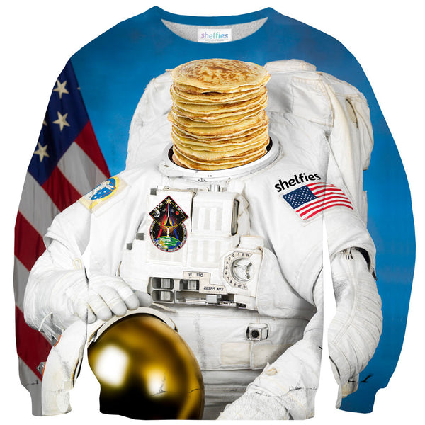 Astronaut Pancakes Sweater-Shelfies-| All-Over-Print Everywhere - Designed to Make You Smile