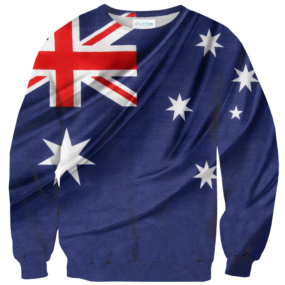Australian Flag Sweater - Shelfies | All-Over-Print Everywhere - Designed to Make You Smile