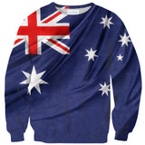 Australian Flag Sweater-Shelfies-| All-Over-Print Everywhere - Designed to Make You Smile