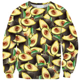 Avocado Invasion Sweater-Shelfies-| All-Over-Print Everywhere - Designed to Make You Smile