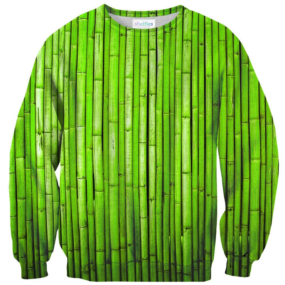 Bamboo Sweater - Shelfies | All-Over-Print Everywhere - Designed to Make You Smile