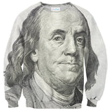 Benjamin Franklin Sweater-Shelfies-| All-Over-Print Everywhere - Designed to Make You Smile