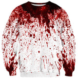 Blood Splatter Sweater-Subliminator-| All-Over-Print Everywhere - Designed to Make You Smile