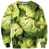 Broccoli Invasion Sweater-Subliminator-| All-Over-Print Everywhere - Designed to Make You Smile