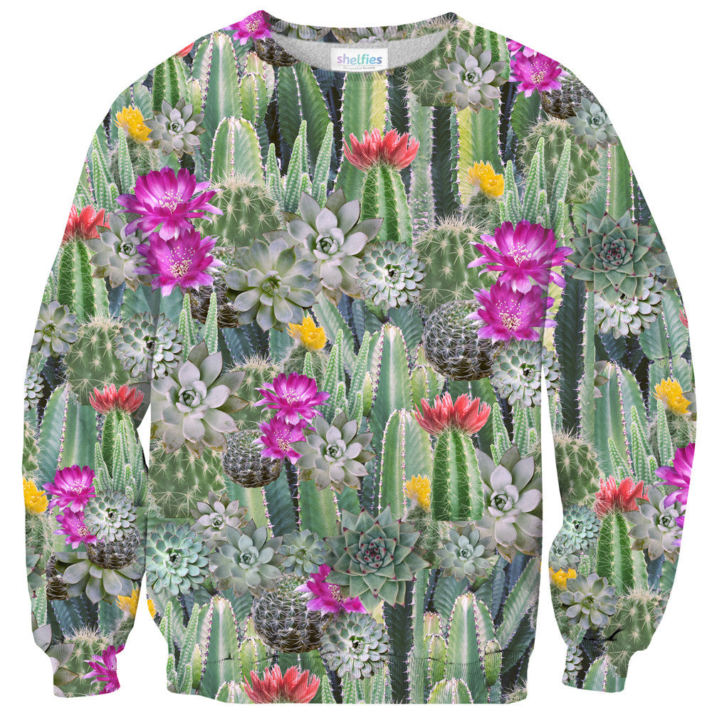 Cacti Invasion Sweater - Shelfies | All-Over-Print Everywhere - Designed to Make You Smile