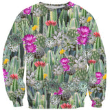 Cacti Invasion Sweater-Shelfies-| All-Over-Print Everywhere - Designed to Make You Smile