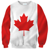 Canadian Flag Sweater-Subliminator-| All-Over-Print Everywhere - Designed to Make You Smile