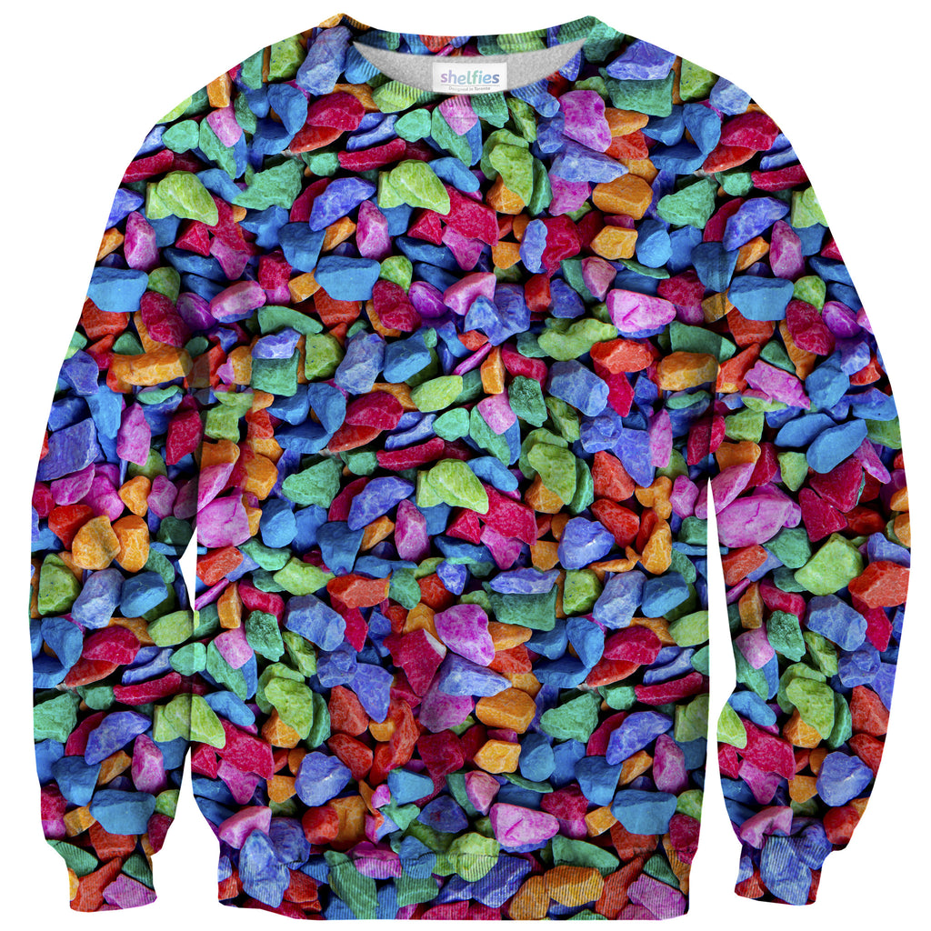 Candy Rocks Invasion Sweater - Shelfies | All-Over-Print Everywhere - Designed to Make You Smile