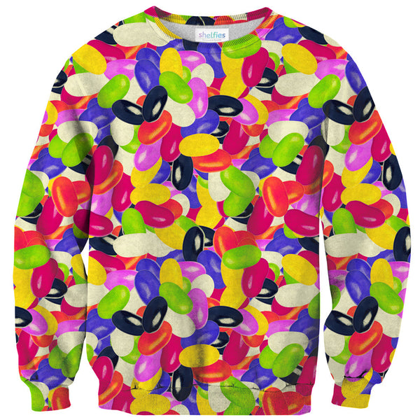 Candybean Invasion Sweater-Shelfies-| All-Over-Print Everywhere - Designed to Make You Smile