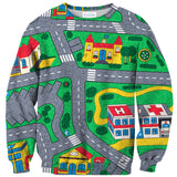 Carpet Track Sweater-Subliminator-| All-Over-Print Everywhere - Designed to Make You Smile