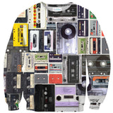 Cassettes Invasion Sweater-Subliminator-| All-Over-Print Everywhere - Designed to Make You Smile