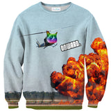 Cat Copter Sweater - Shelfies | All-Over-Print Everywhere - Designed to Make You Smile