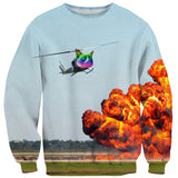 Cat Copter Sweater-Shelfies-| All-Over-Print Everywhere - Designed to Make You Smile