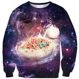 Cereal and Milky Way Sweater - Shelfies | All-Over-Print Everywhere - Designed to Make You Smile