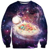 Cereal and Milky Way Sweater-Shelfies-| All-Over-Print Everywhere - Designed to Make You Smile