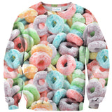 Cereal Invasion Sweater-Subliminator-| All-Over-Print Everywhere - Designed to Make You Smile