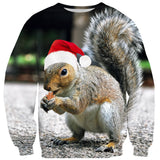 Christmas Squirrel Sweater - Shelfies | All-Over-Print Everywhere - Designed to Make You Smile