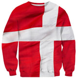 Danish Flag Sweater-Subliminator-| All-Over-Print Everywhere - Designed to Make You Smile