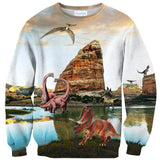 Dinosauria Sweater-Shelfies-| All-Over-Print Everywhere - Designed to Make You Smile