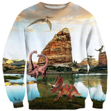 Dinosauria Sweater - Shelfies | All-Over-Print Everywhere - Designed to Make You Smile
