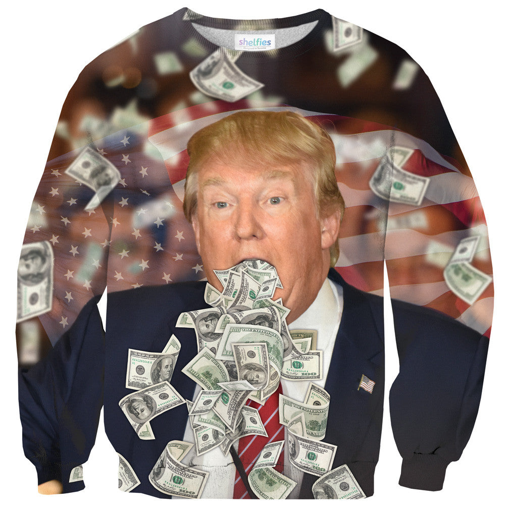 Donald Trump Sweater-Shelfies-| All-Over-Print Everywhere - Designed to Make You Smile