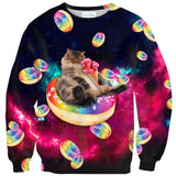 Donut Cat-astrophy Sweater - Shelfies | All-Over-Print Everywhere - Designed to Make You Smile