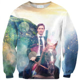 Dreamy Trudeau Sweater-Subliminator-| All-Over-Print Everywhere - Designed to Make You Smile