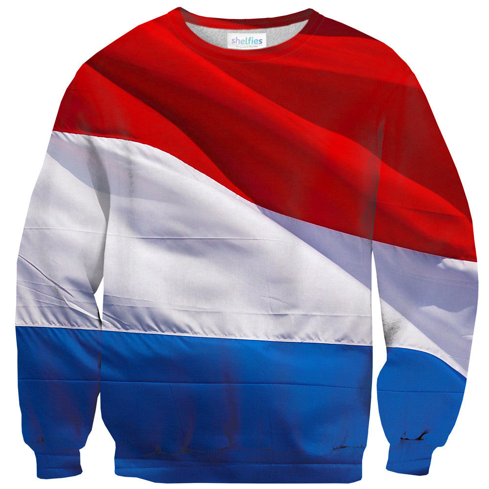 Dutch (Netherlands) Flag Sweater - Shelfies | All-Over-Print Everywhere - Designed to Make You Smile