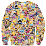 Emoji Invasion Sweater-Shelfies-XS-| All-Over-Print Everywhere - Designed to Make You Smile