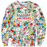 Fabulous Las Vegas Sweater - Shelfies | All-Over-Print Everywhere - Designed to Make You Smile