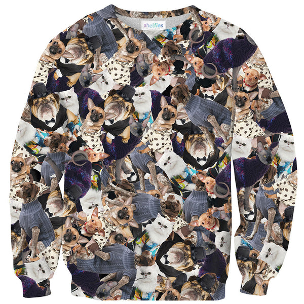 Fashion Pets Invasion Sweater-Shelfies-XS-| All-Over-Print Everywhere - Designed to Make You Smile