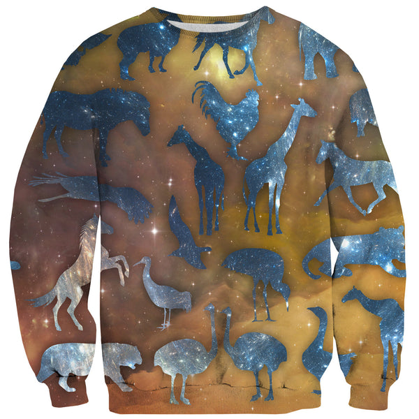 Galaxy Zoo Sweater-Shelfies-| All-Over-Print Everywhere - Designed to Make You Smile