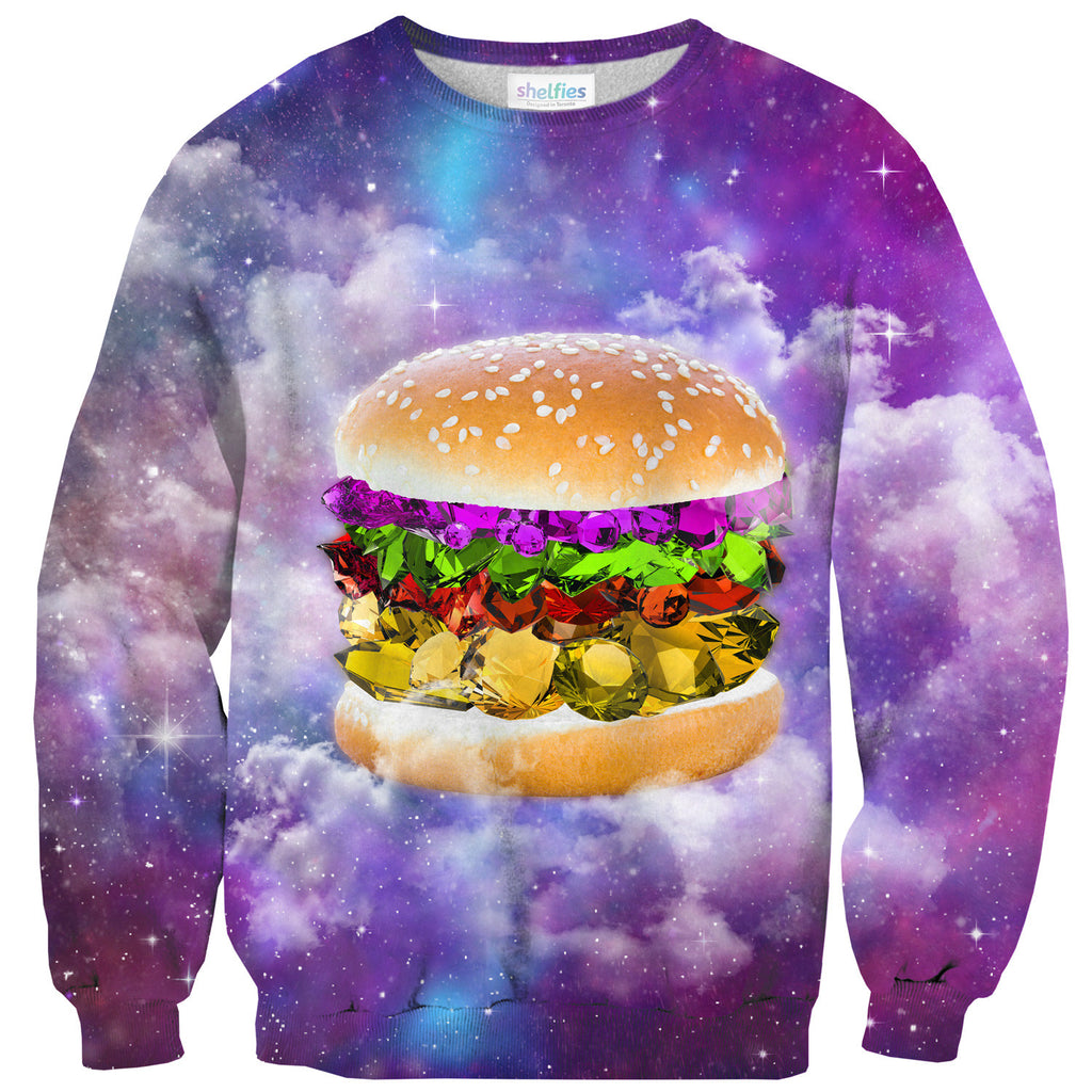Gem Burger Sweater - Shelfies | All-Over-Print Everywhere - Designed to Make You Smile