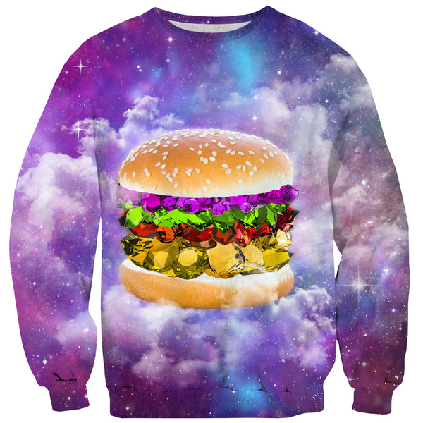 Gem Burger Sweater-Shelfies-XS-| All-Over-Print Everywhere - Designed to Make You Smile