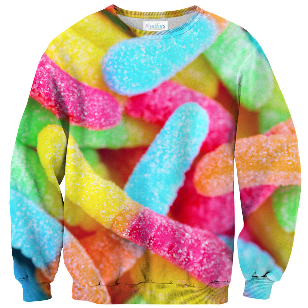Gummy Worm Invasion Sweater - Shelfies | All-Over-Print Everywhere - Designed to Make You Smile