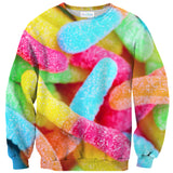 Gummy Worm Invasion Sweater-Shelfies-XS-| All-Over-Print Everywhere - Designed to Make You Smile