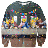 Happy Birthday Jesus Sweater-Shelfies-XS-| All-Over-Print Everywhere - Designed to Make You Smile