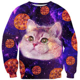 Heavy Breathing Cat Pizza Sweater-Subliminator-| All-Over-Print Everywhere - Designed to Make You Smile