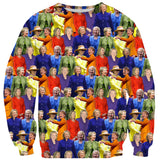 Hillary Clinton Rainbow Suits Sweater - Shelfies | All-Over-Print Everywhere - Designed to Make You Smile