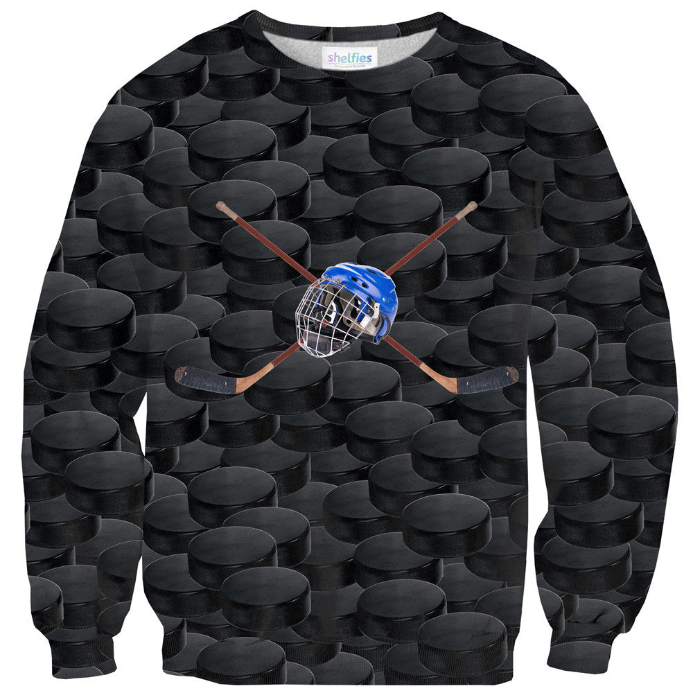 Hockey Puck Sweater - Shelfies | All-Over-Print Everywhere - Designed to Make You Smile
