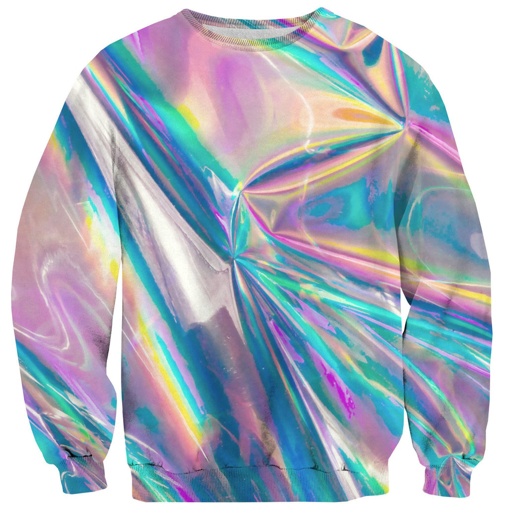 Holographic Foil Sweater-Subliminator-| All-Over-Print Everywhere - Designed to Make You Smile
