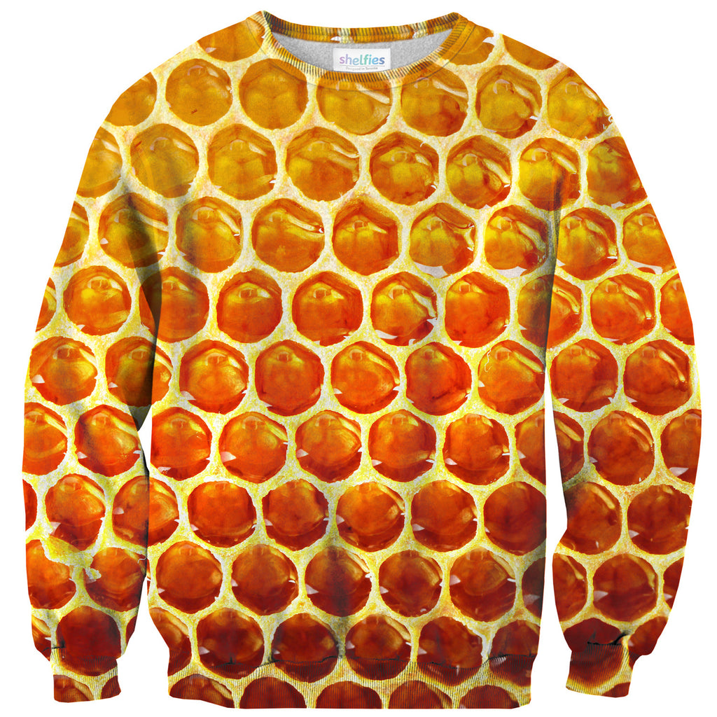 Honeycomb Sweater - Shelfies | All-Over-Print Everywhere - Designed to Make You Smile