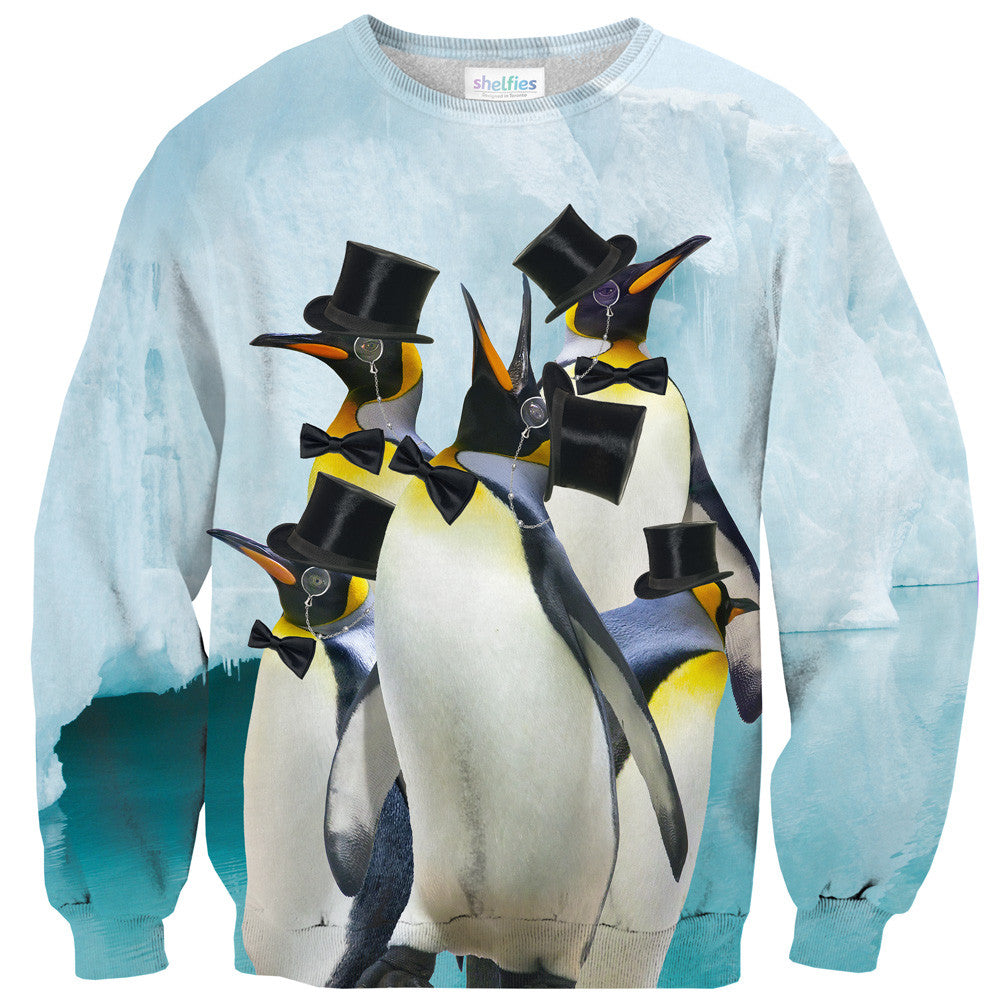 Indeed Penguins Sweater-Shelfies-XS-| All-Over-Print Everywhere - Designed to Make You Smile