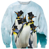 Indeed Penguins Sweater-Shelfies-| All-Over-Print Everywhere - Designed to Make You Smile