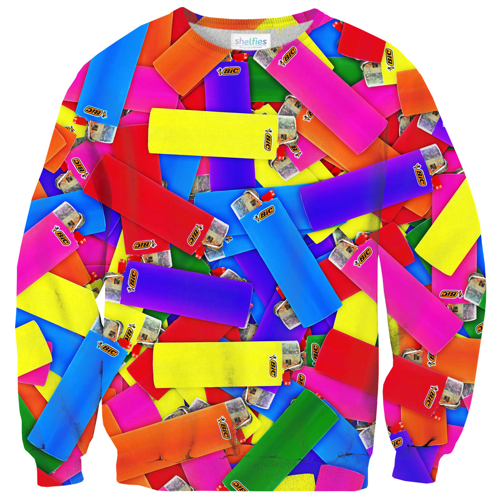 It's Lit Sweater - Shelfies | All-Over-Print Everywhere - Designed to Make You Smile