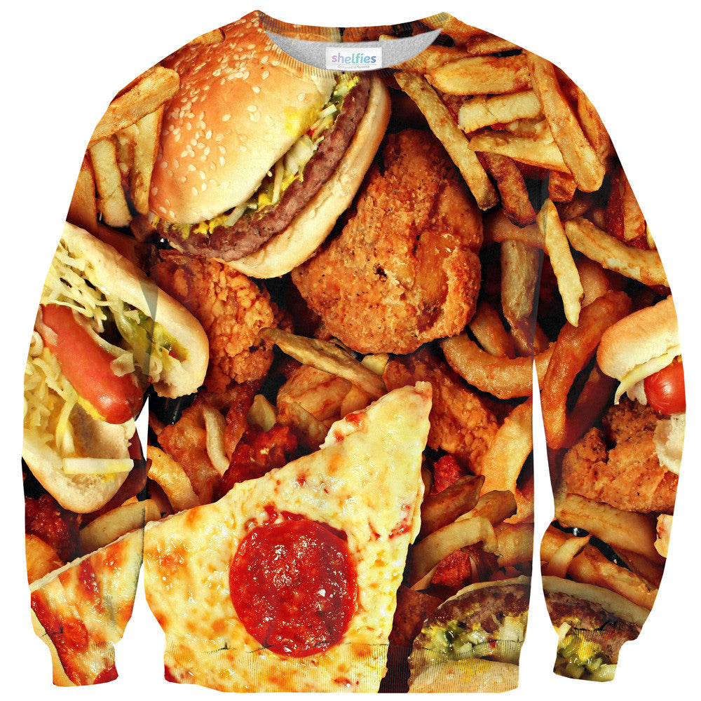 Junk Food Invasion Sweater - Shelfies | All-Over-Print Everywhere - Designed to Make You Smile