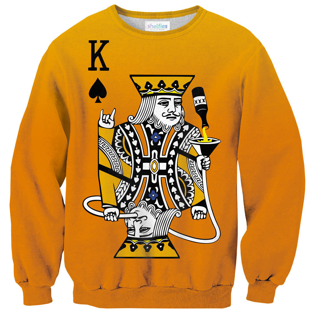 Kingsday Sweater-Shelfies-| All-Over-Print Everywhere - Designed to Make You Smile