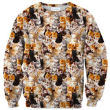 Kitty Invasion Sweater-Shelfies-| All-Over-Print Everywhere - Designed to Make You Smile
