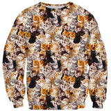 Kitty Invasion Sweater - Shelfies | All-Over-Print Everywhere - Designed to Make You Smile