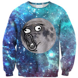 Sweatshirts - LOL Moon Face Sweater